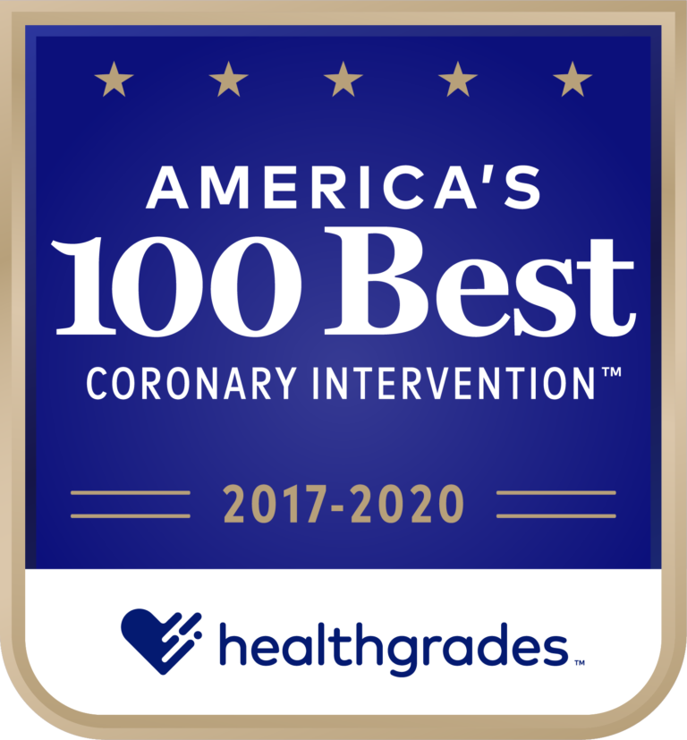America's 100 Best for Coronary Intervention 2017-2020