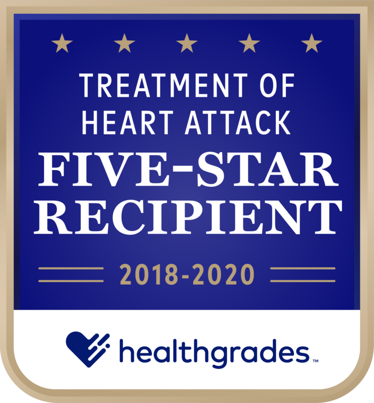 Five-Star for Treatment of Heart Attack 2018-2020