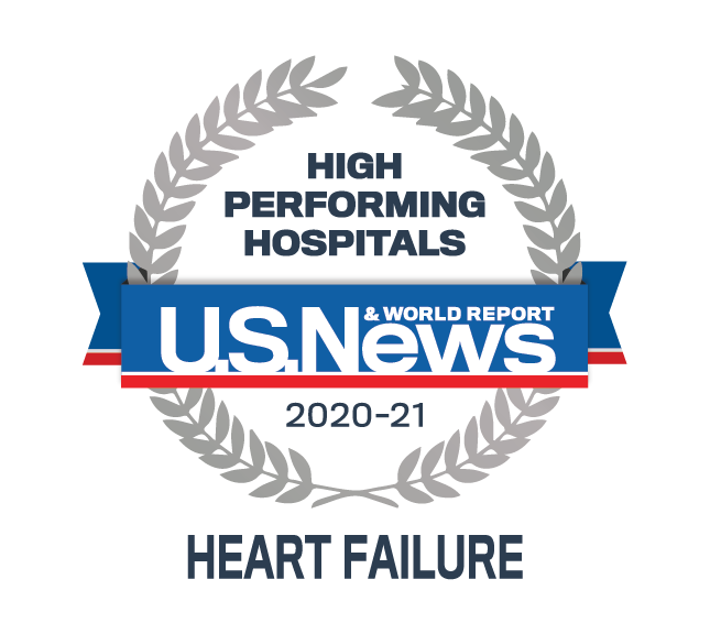 High Performing Hospitals for Heart Failure 2020-2021